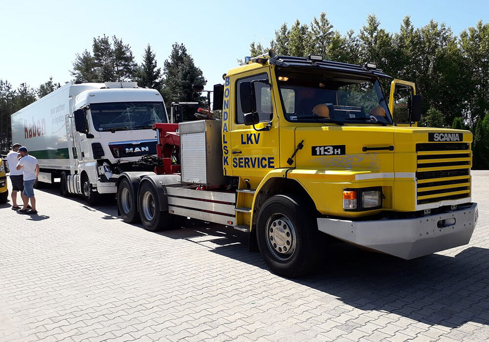 holowanie ciężarówek koszalin